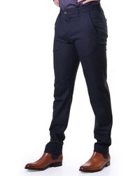 Ted Baker Mens Speck Semi Plain Trousers - Blue