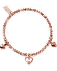 ChloBo - Triple Heart Charm Bracelet - Lyst