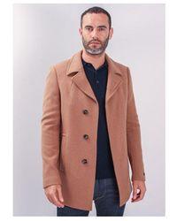 Remus Uomo Lohman Overcoat Colour: Camel - Brown