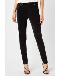 French Connection Skinny Velveteen Jeans 74mnn - Black