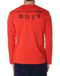 Comme des Garçons Long Sleeve T-shirt - Red