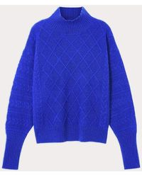 Cocoa Cashmere Electric Blue Holly Sweater Cc3278
