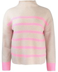 Cocoa Cashmere Robin Striped Knit - Pink