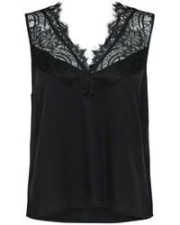 SELECTED Selected Lace Strap Top - Black