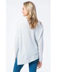 Repeat Cashmere Mint Asymmetrical Sweater - Multicolor
