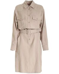 FEDERICA TOSI Women's Fte21ab0780ftpe210154 Grey Viscose Dress