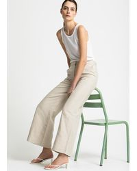House of Dagmar Mindy Linen Trousers - Sand - Natural