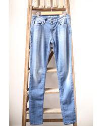 Denham - Sharp Blue Skinny Jeans - Lyst