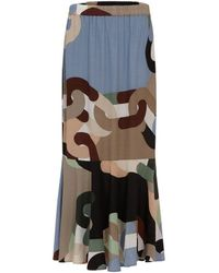 COSTER COPENHAGEN Chain Print Skirt - 905 - Multicolour