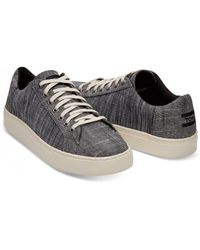 TOMS - Lenox Chambray Mix Sneaker - Lyst