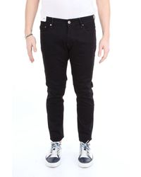 PT01 Men's Oa22c5kj25z20trvnero Black Cotton Jeans