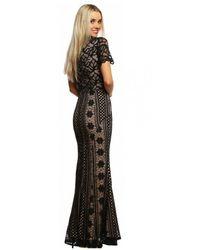 Jarlo Saran Lace Maxi Dress - Black