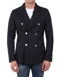 Tonello Double-breasted Jacket - Grey