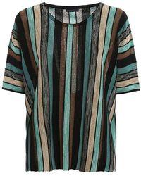 Paolo Fiorillo Capri Striped Knitted T-shirt - Multicolor