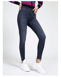 Guess 1981 Skinny Jeans In Black Warm Colour: Washed Black - Gray