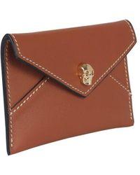 McQ Envelope Skull Card Holder - Brown