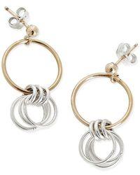 Alison Fern Jewellery Lucy And Gold Earrings - Metallic