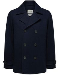 SELECTED Iconics Peacoat , Title:sky Captain - Blue