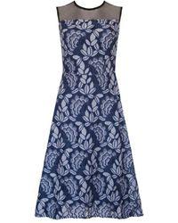 Ukulele Rose Dress - Blue