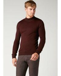 Remus Uomo Turtle-neck Sweater - Purple