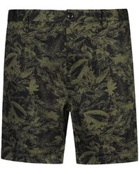 Replay Classic Floral Pattern Chino Shorts Colour: Green
