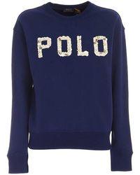 Ralph Lauren - Women's 211827907001 Blue Cotton Sweatshirt - Lyst