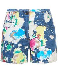 Moschino Women's A03295201888 Blue Cotton Shorts