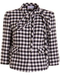 RED Valentino Checked Jacket - Multicolor