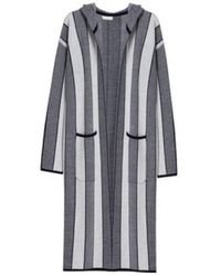 INTROPIA - Stripes Knit Coat - Lyst