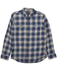 Filson Scout Shirt Blue / Gold / White Plaid