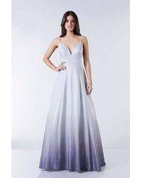 Tiffany & Co. - Illusion Lilly Silver Purple Glitter Prom Ballgown - Lyst