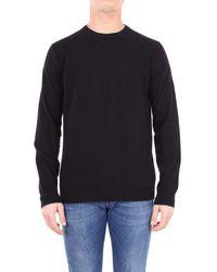 Altea - Men's 1861000black Black Wool Sweater - Lyst