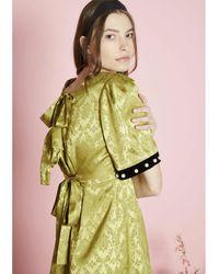 Sister Jane Pavilion Damask Dress -greenery