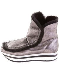 Voile Blanche Boots In Silver - Metallic
