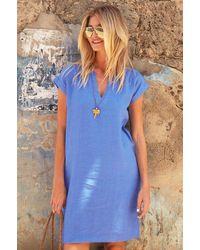 Aspiga Dori Premium Linen Dress   Marina - Blue