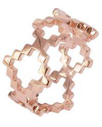 Jewel Tree London Baori Signature Ring - Metallic