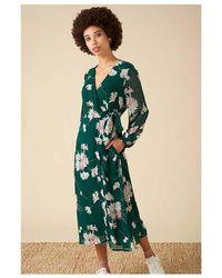 Emily and Fin Luna Casablanca Wrap Dress - Green