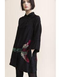 Tallulah & Hope Ruby Button Placket Panel Dress - Black