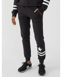 South Parade Lucy Stars And Stripes Joggers - Black