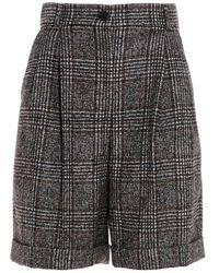 Dolce & Gabbana Dolce E Gabbana Women's Ftbx0tfqmibs8100 Gray Wool Shorts