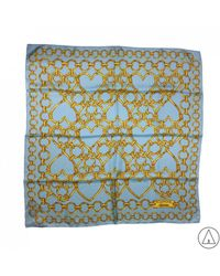 Boutique Moschino - Printed Scarf In Blue - Lyst