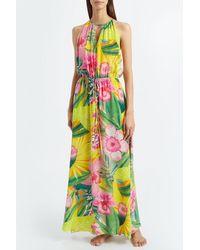Kalmar Mariam Tropical Jungle Flower Dress - Green