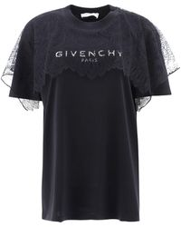 Givenchy Women's Bw708r3z4u001 Black Other Materials T-shirt