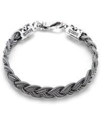 Emanuele Bicocchi Flat Braided Bracelet - Metallic