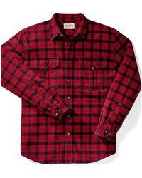 Filson Alaskan Guide Shirt - /black - Red
