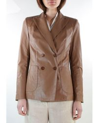 ..,merci Goods - Jacket D.p. Ecopel. Leather G191x - Brown