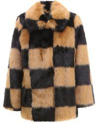STAND Faux Fur Coat - Black