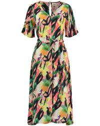 POM Amsterdam Flower Play Dress - Cantaloupe - Pink