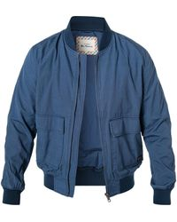 Ben Sherman Indigo Bomber Jacket - Blue