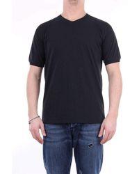 Retois Men's 20177nero Black Cotton T-shirt